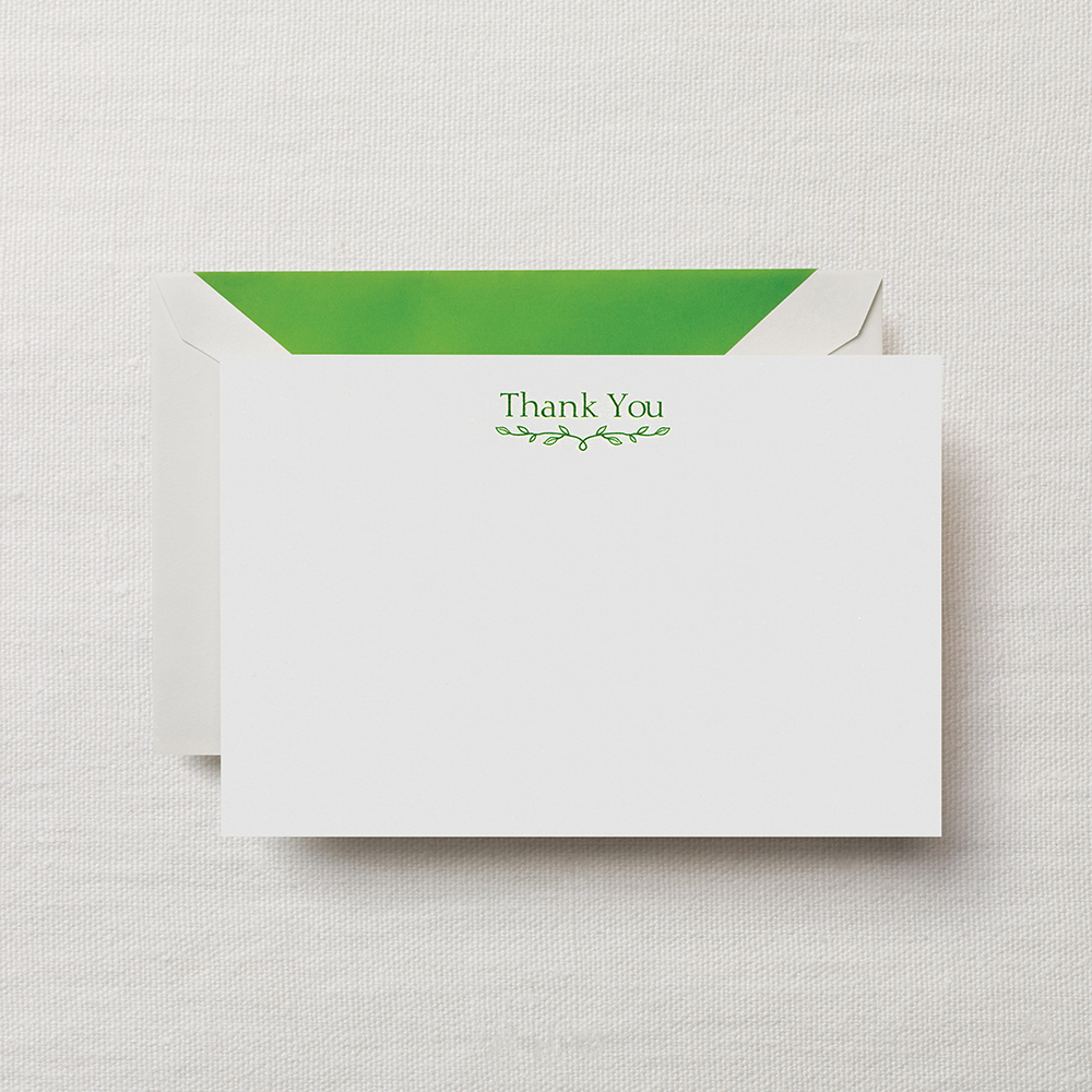 Spring Green Thank You Card